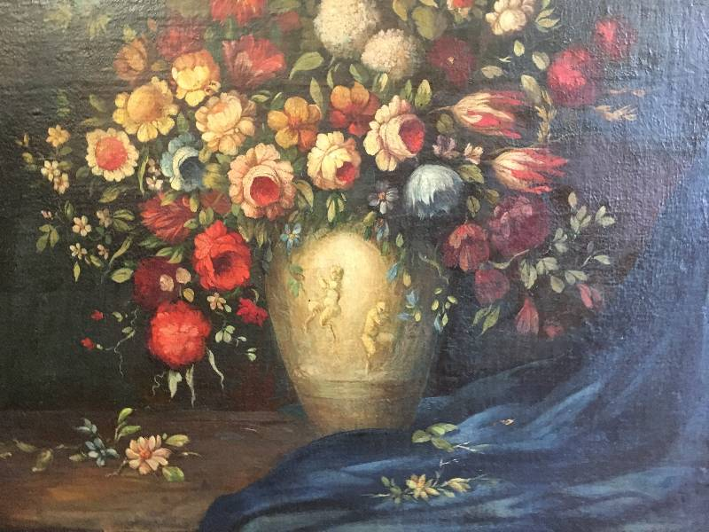 Dipinto antico: natura morta del 1700