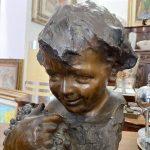 Busto di fanciullo in bronzo primi '900
