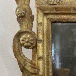 Antica specchiera in stile Luigi XVI dorata e finemente intagliata del 1700 (XVIII secolo)