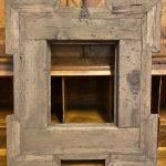 Antica cornice guilloche XVII secolo ebanizzata con inserti in tartaruga – 007