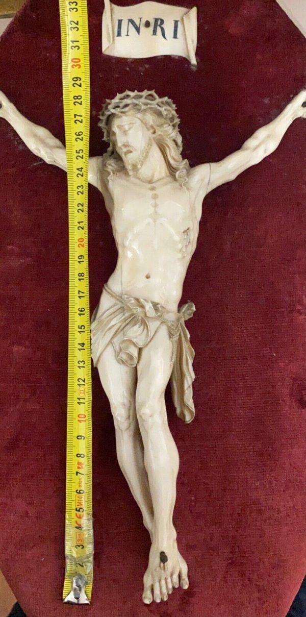 Antico Cristo in avorio scolpito del 1700 - 004