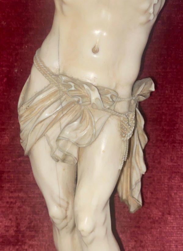Antico Cristo in avorio scolpito del 1700 - 006