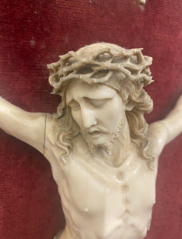 Antico Cristo in avorio scolpito del 1700 - 008