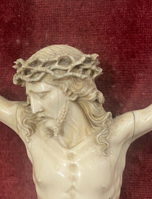 Antico Cristo in avorio scolpito del 1700 - 009