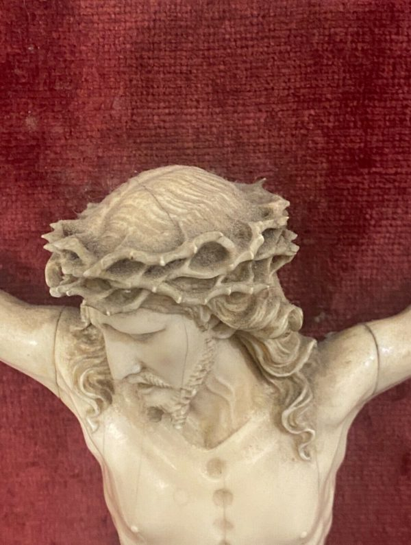 Antico Cristo in avorio scolpito del 1700 - 011