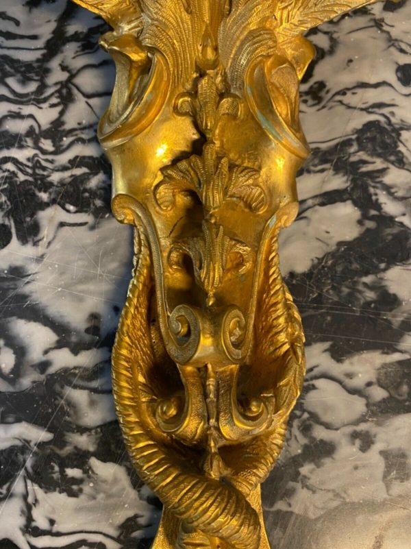 Coppia di Appliques '800 in bronzo dorato Napoleone III - 006